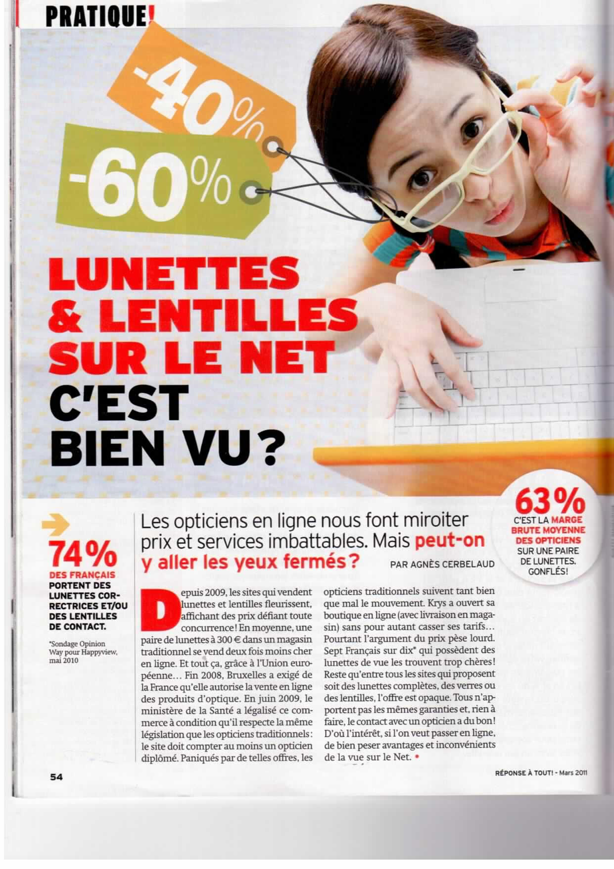 Opticiens en ligne
